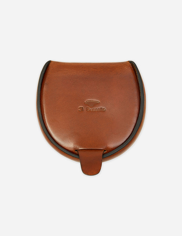 Il Bussetto Dome Coin Case (Leather) - Cappuccino Brown