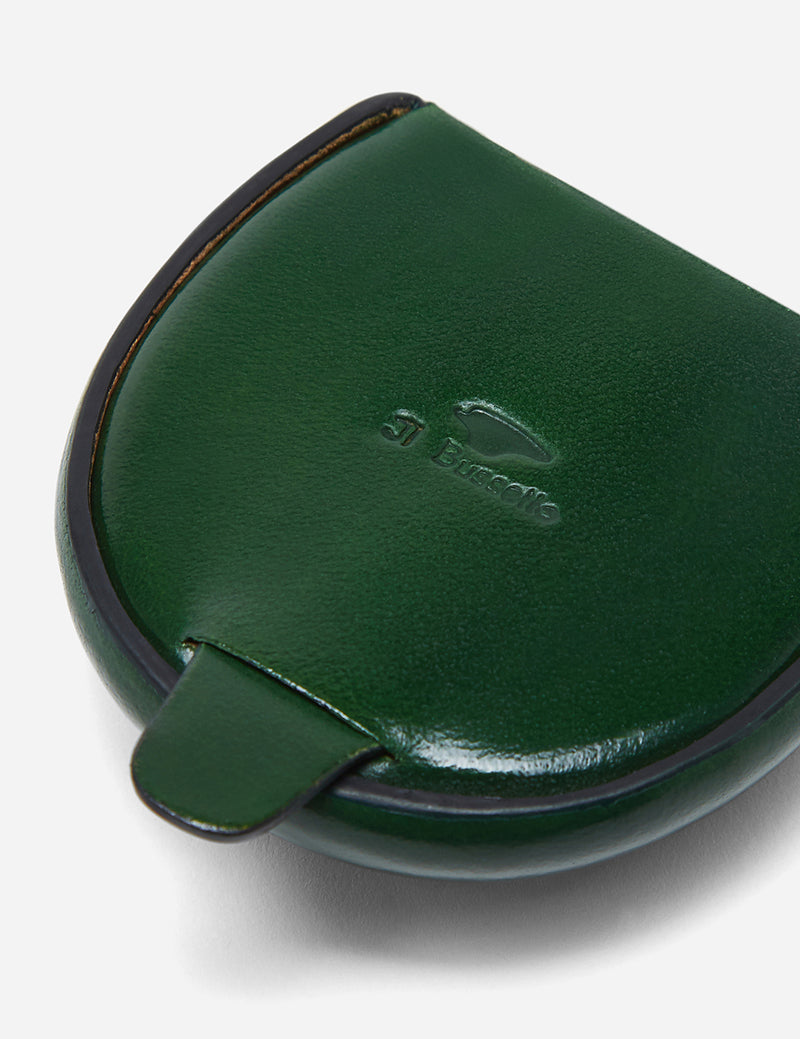 Il Bussetto Dome Coin Case (Leather) - Forest Green