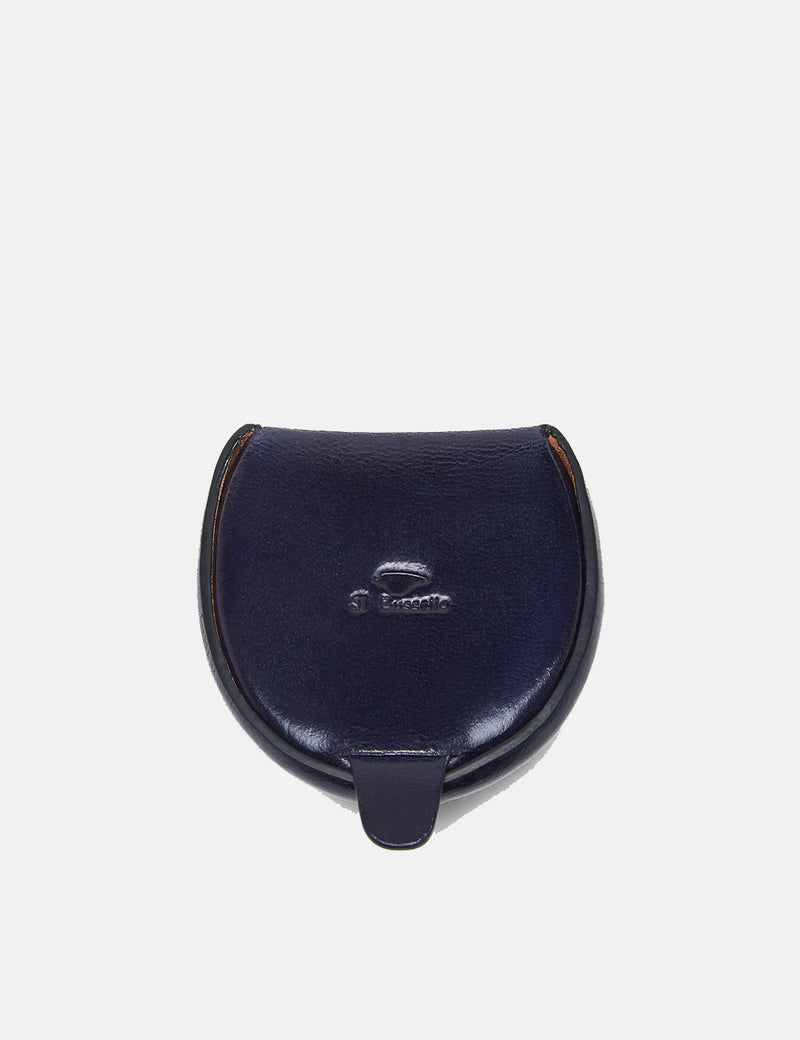 Il Bussetto Dome Coin Case (Leather) - Navy Blue