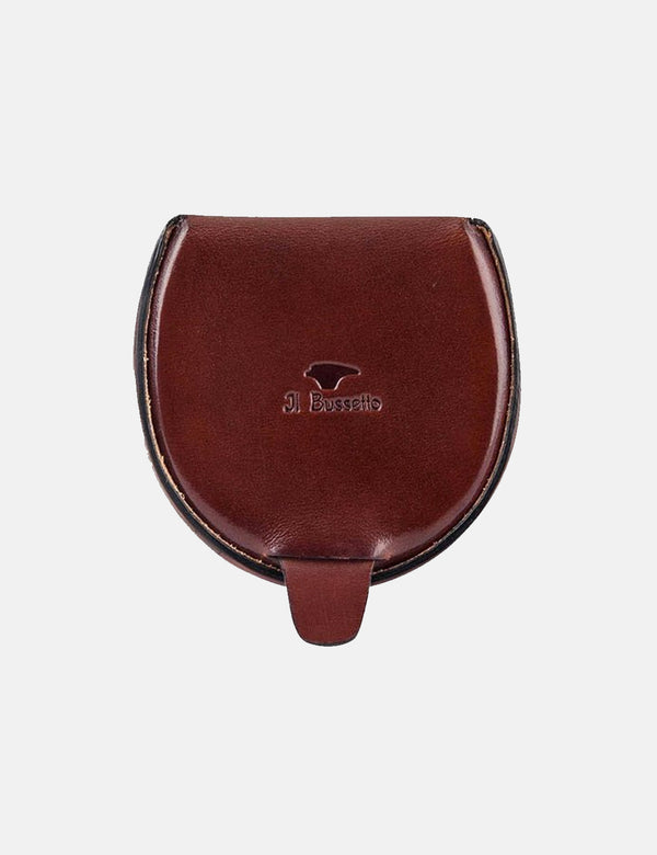 Il Bussetto Dome Coin Case (Leather) - Bordeaux Red