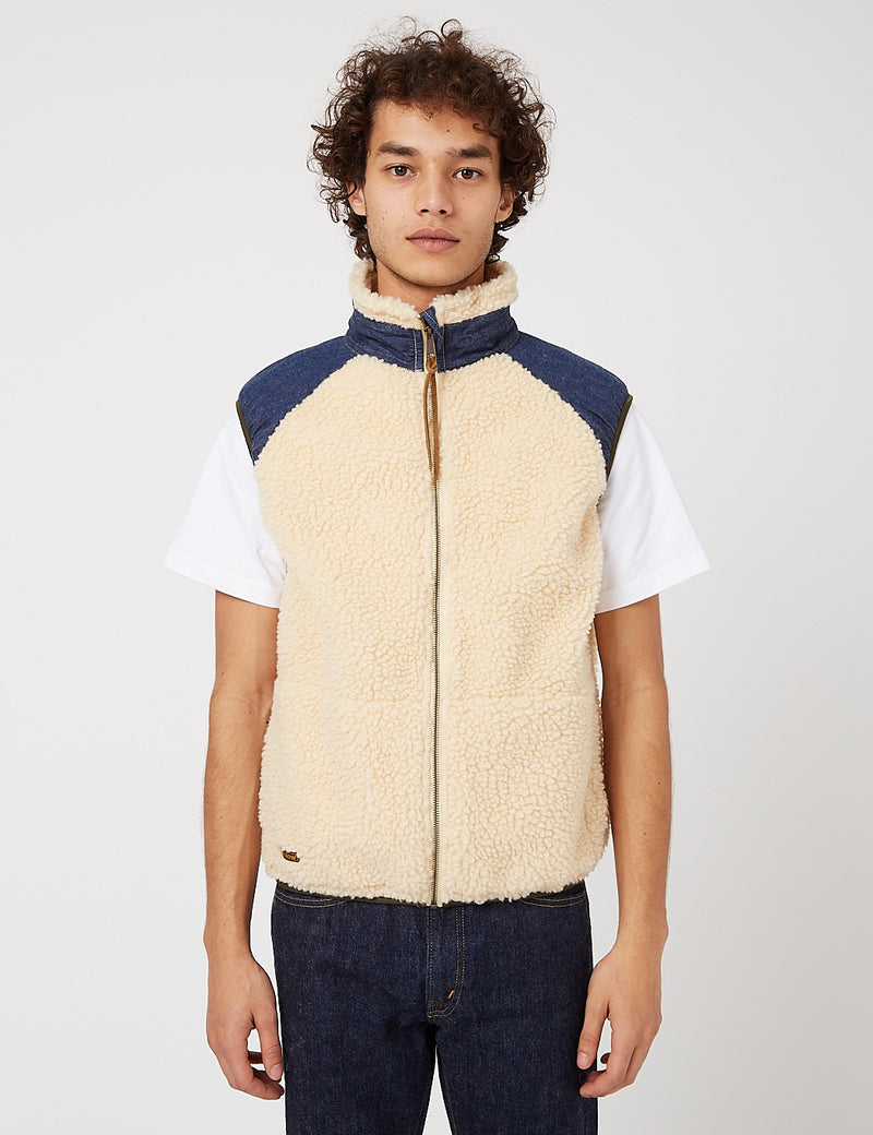 orSlow Fleece Vest - Ecru