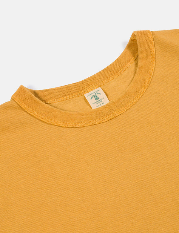 Velva Sheen x Article Pigment Dyed Pocket T-Shirt - Mustard