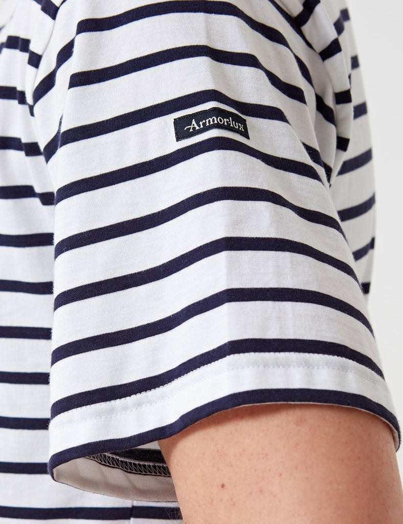 Armor Lux Theviec Breton T-shirt - White/Navy Blue - Article