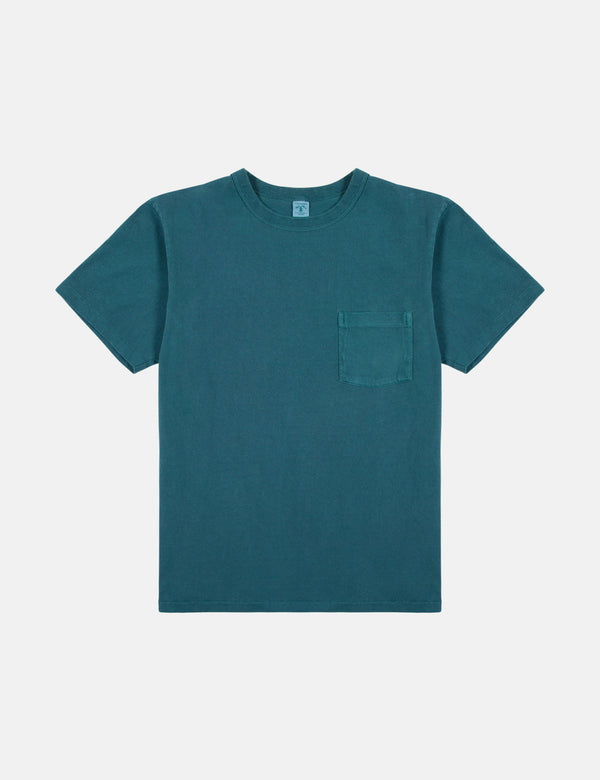 Velva Sheen x Article Pigment Dyed Pocket T-Shirt - Bottle Green
