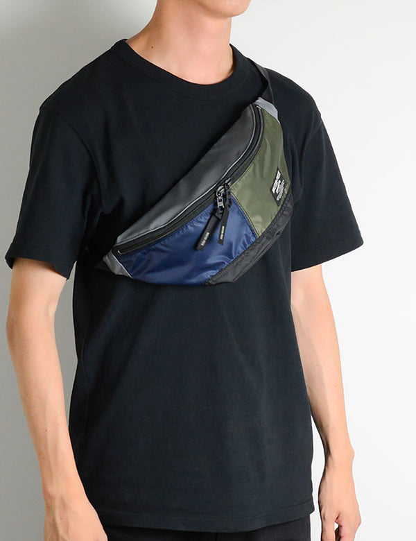 Master-Piece Rush Waist Bag (02220) - Navy/Olive/Grey