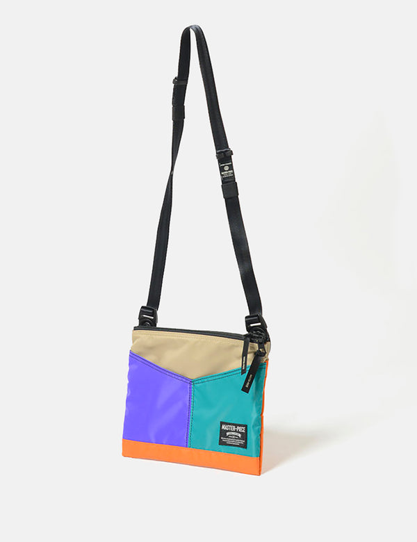 Master-Piece Rush Side Bag (02221) - Purple/Turquoise/Orange