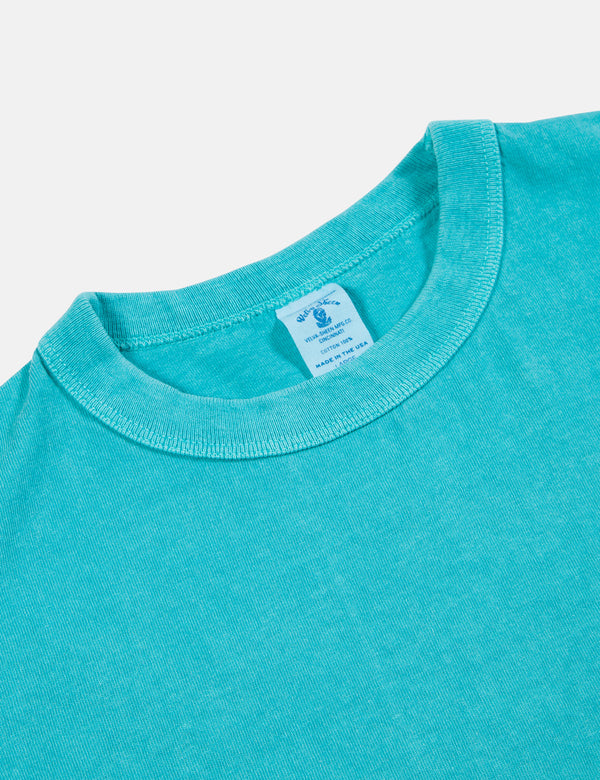 Velva Sheen x Article Pigment Dyed Pocket T-Shirt - Teal