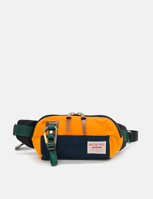 Sac Banane Master-Piece Link (02346) - Bleu Marine/Orange