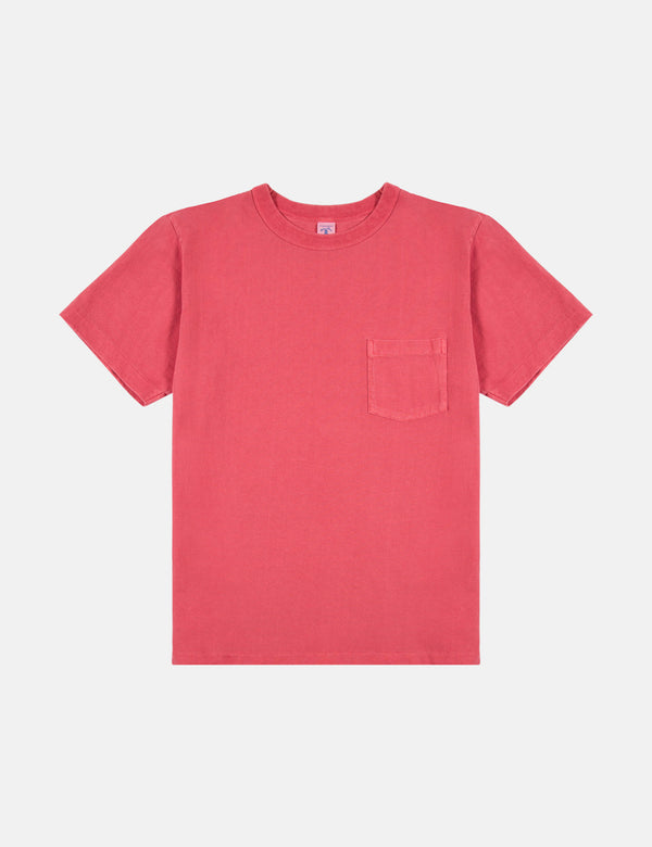 Velva Sheen x Article Pigment Dyed Pocket T-Shirt - Red