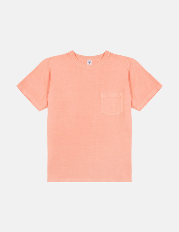 Velva Sheen Pigment Dyed USA Made T-shirt (Pocket) - Sunrise