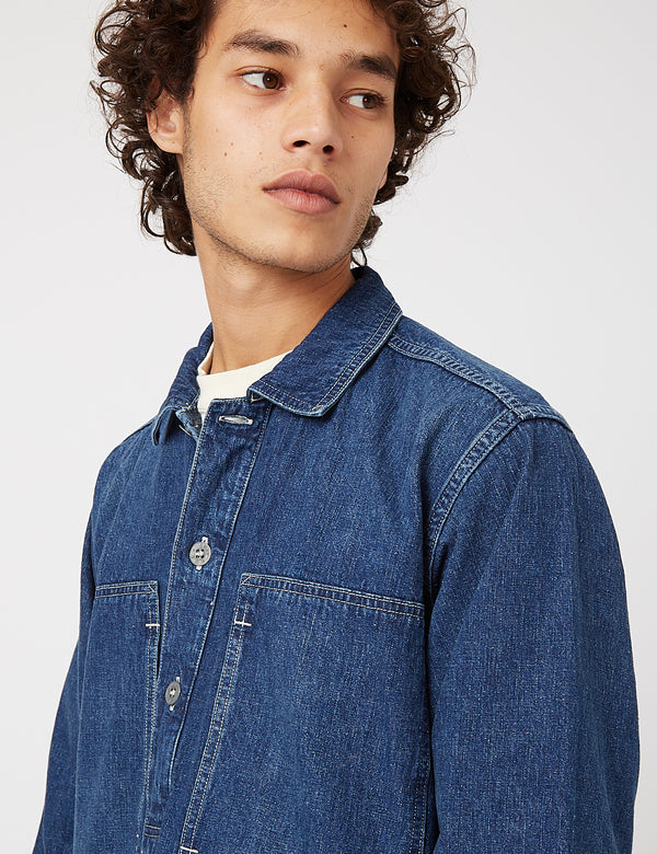 orSlow PW Pullover Shirt Jacket - Denim Used