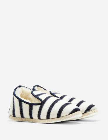 Armor Lux Striped Slippers - Natural/Navy Blue - Article
