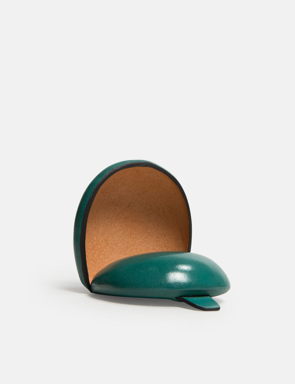 Il Bussetto Dome Coin Case (Leather) - Evergreen