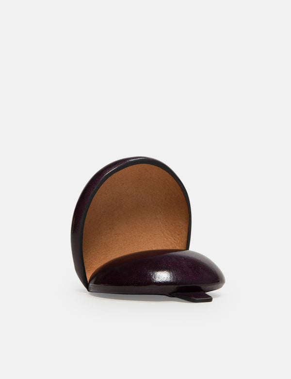 Il Bussetto Dome Coin Case (Leather) - Prune