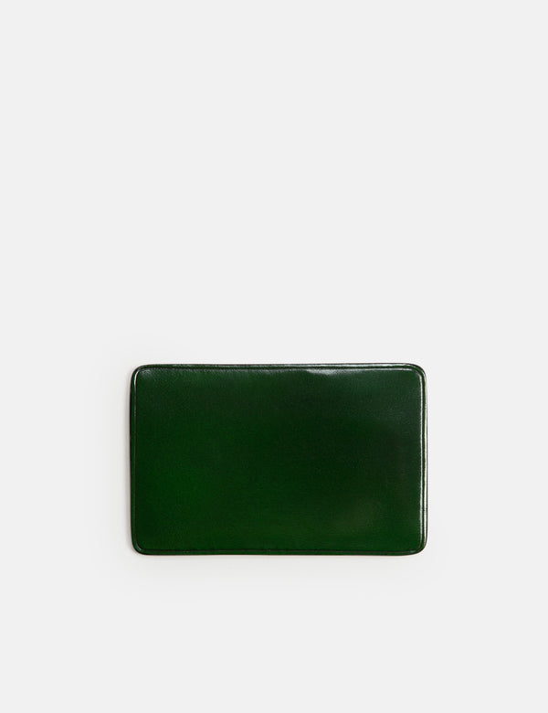 Il Bussetto Card Holder Slim-Line (Leather) - Forest Green