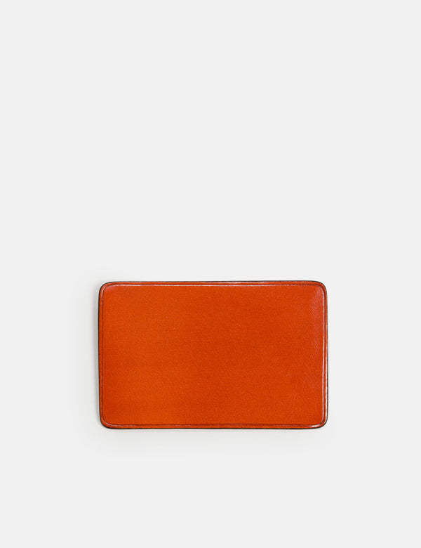 Il Bussetto Card Holder Slim-Line (Leather) - Orange