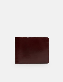Il Bussetto Bi-Fold Wallet (Leather) - Bordeaux