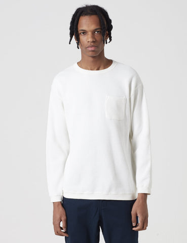 Manastash Honeycome Snug Thermal Sweatshirt - Off White