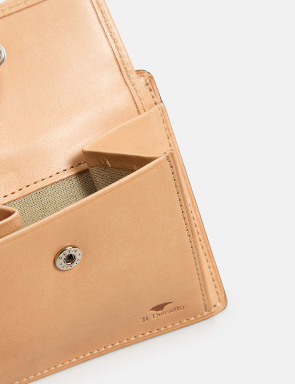 Il Bussetto Bi-Fold Wallet with Coin Pouch (Leather) - Light Brown