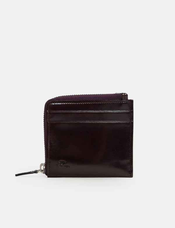 Il Bussetto Small Zippy Wallet (Leather) - Prune