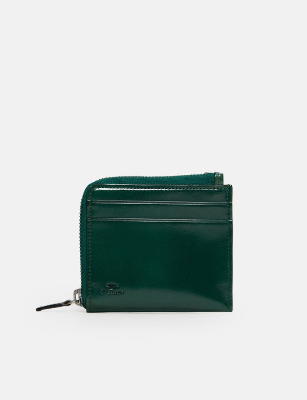 Il Bussetto Small Zippy Wallet (Leather) - Evergreen