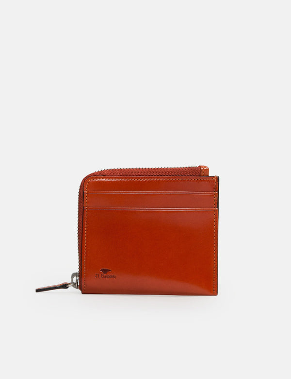 Il Bussetto Small Zippy Wallet (Leather) - Orange
