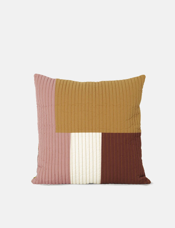 Ferm Living Shay Quilt Cushion(50x50cm)-マスタード