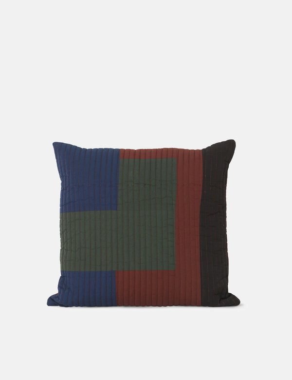 Ferm Living Shay Quilt Cushion (50x50cm) - Cinnamon