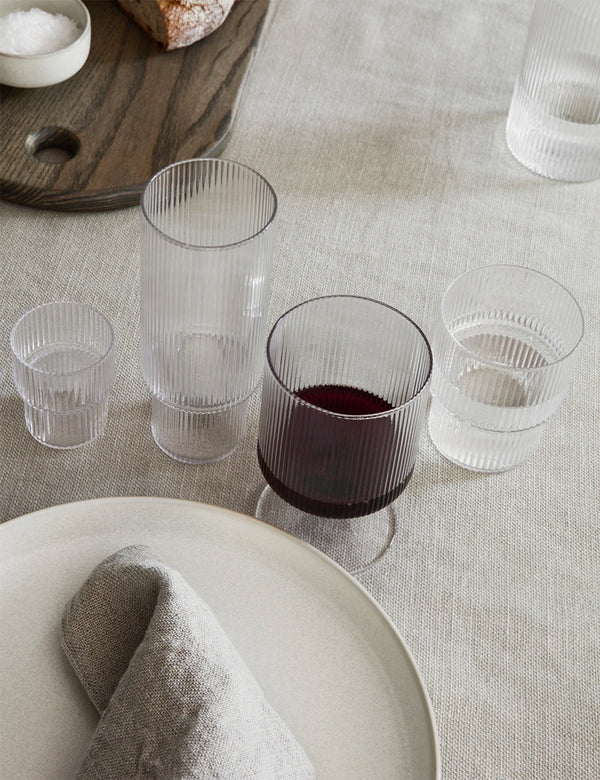 Ferm Living Ripple Small Glasses (Set of 4) - Clear