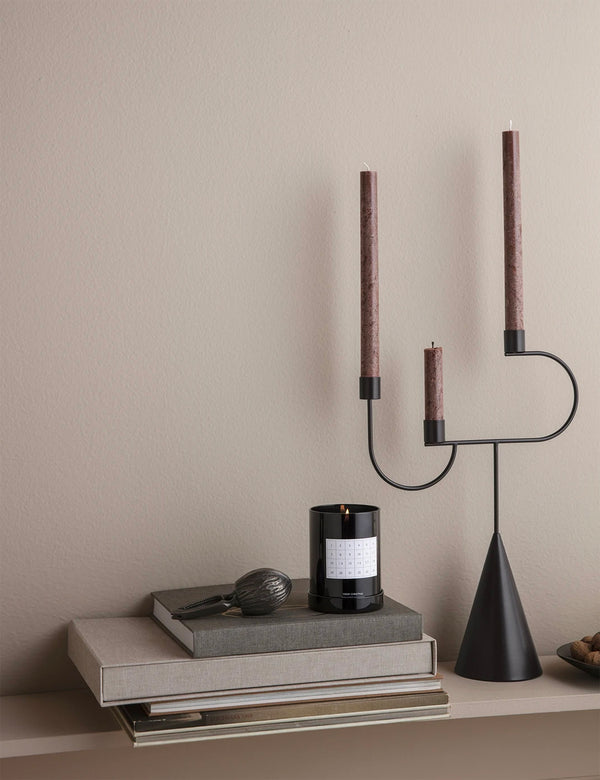 Ferm Living Uno Candle (16er-Set) - Rotbraun