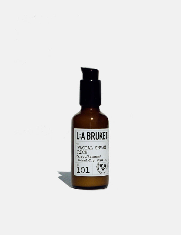 L:A Bruket Facial Cream Rich (50ml) - Carrot/Bergamot