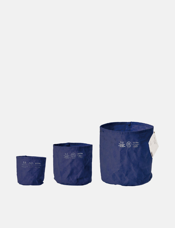 Puebco Canvas Pot Cover (Set of 3) - Navy Blue