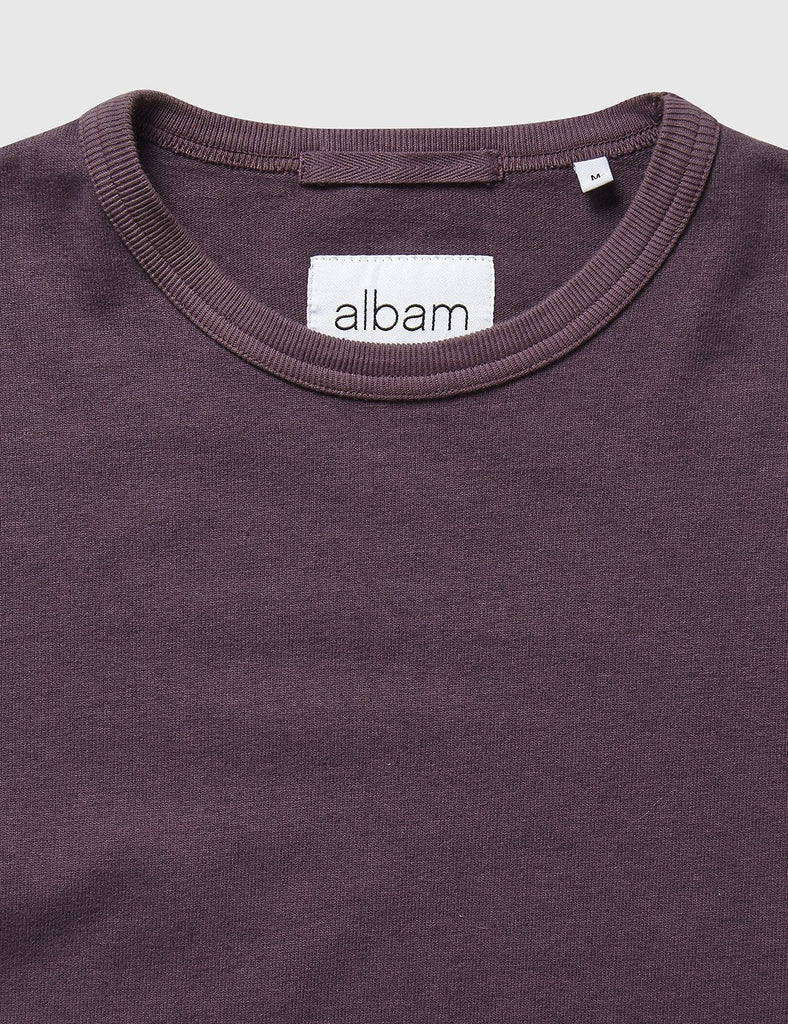 Albam Mid Weight Sweatshirt - Plum - Article