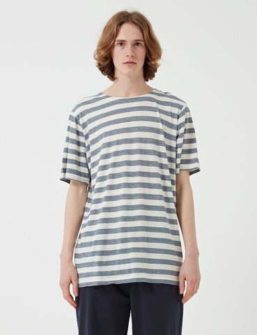 Albam Boat Neck T-Shirt - Blue / White - Article