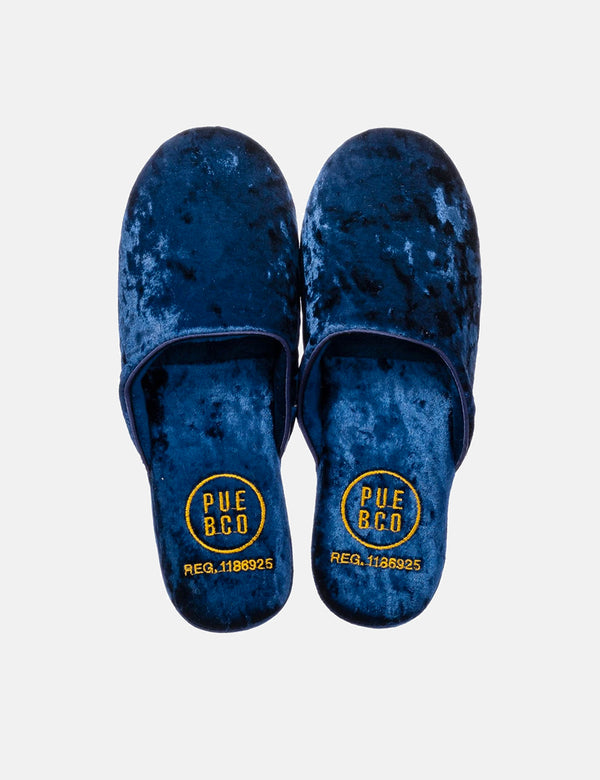 Puebco Velvet Slipper - Navy Blue