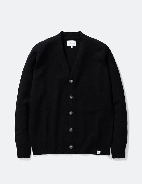 Cardigan Adam Norse Projects (Laine) - Noir