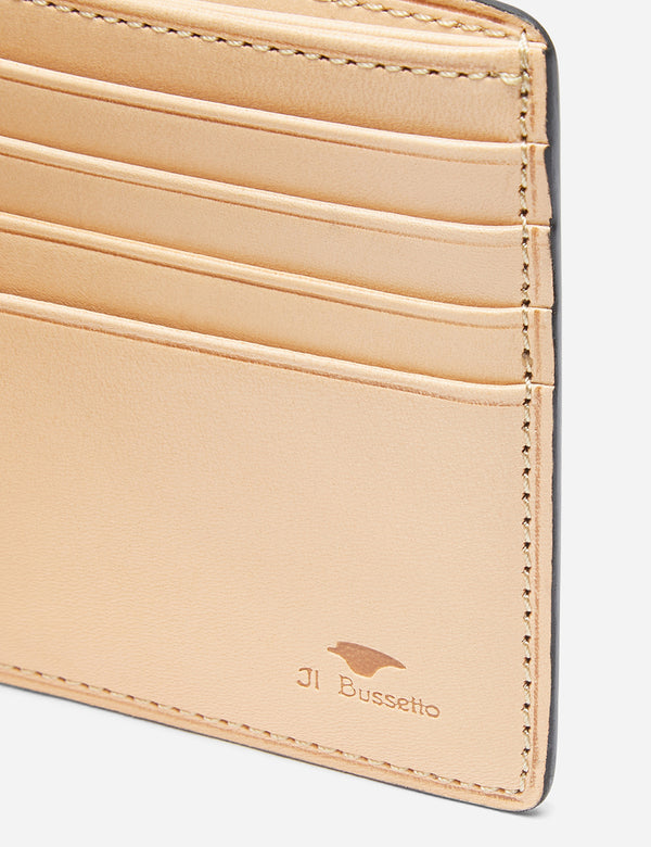 Il Bussetto Bi-Fold Wallet (Leather) - Light Brown