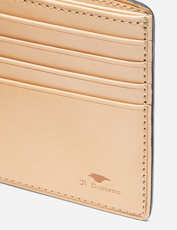 Il Bussetto Bi-Fold Wallet (Leather) - Forest Green