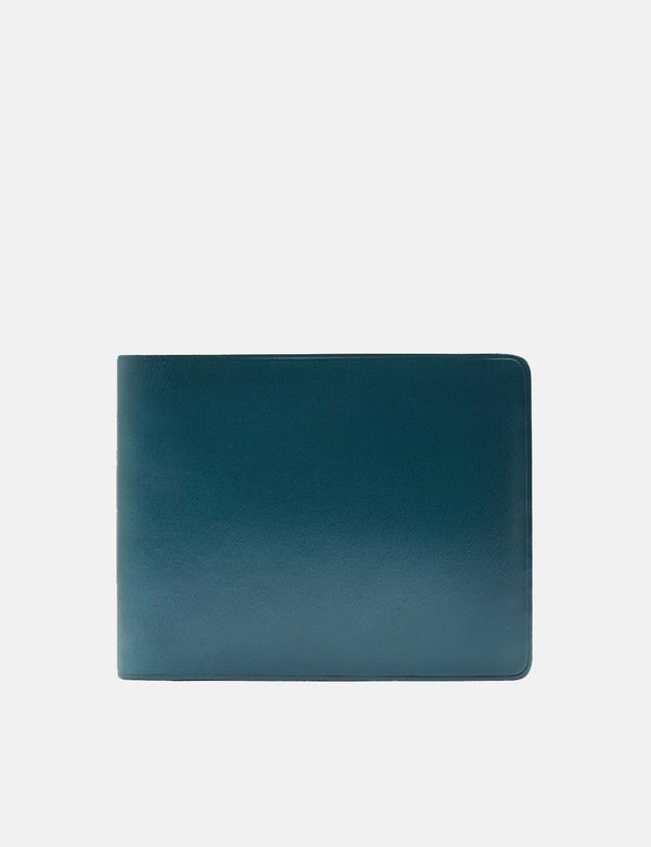 Il Bussetto Bi-Fold Wallet (Leather) - Ocean Blue