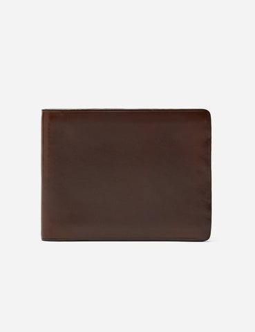 Il Bussetto Bi-Fold Wallet (Leather) - Dark Brown