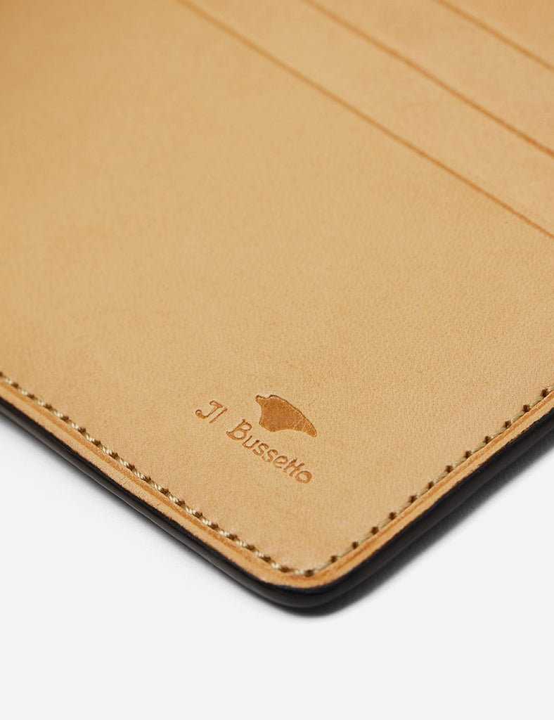 Il Bussetto Bi-Fold Wallet (Leather) - Biscuit Brown