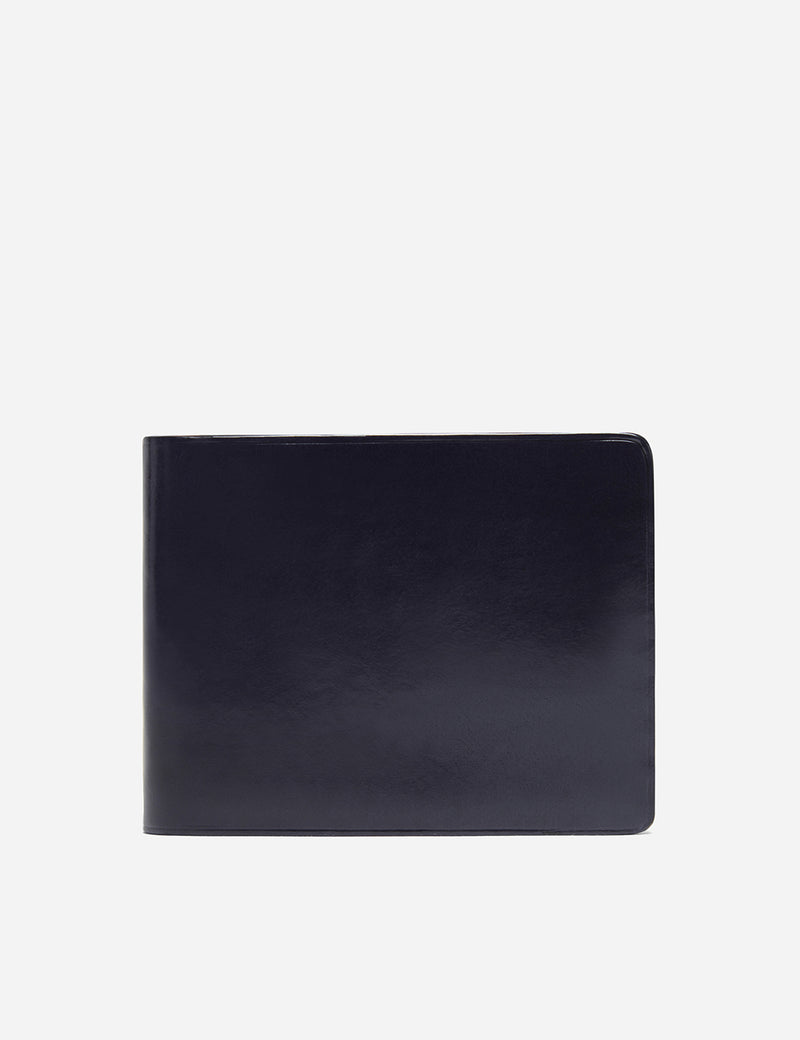 Il Bussetto Bi-Fold Wallet (Leather) - Navy Blue