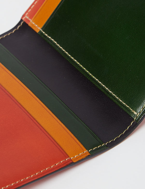 Il Bussetto Bi-Fold Wallet (Leather) - Multi Green