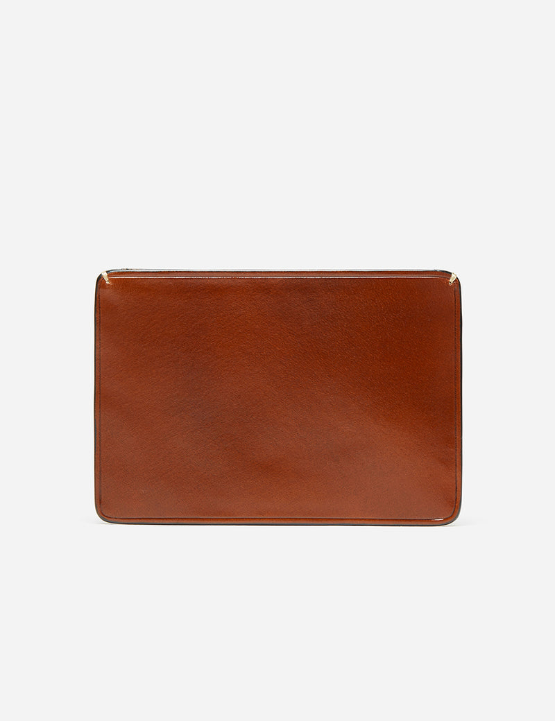 Il Bussetto Small Card Holder (Leather) - Cappuccino Brown