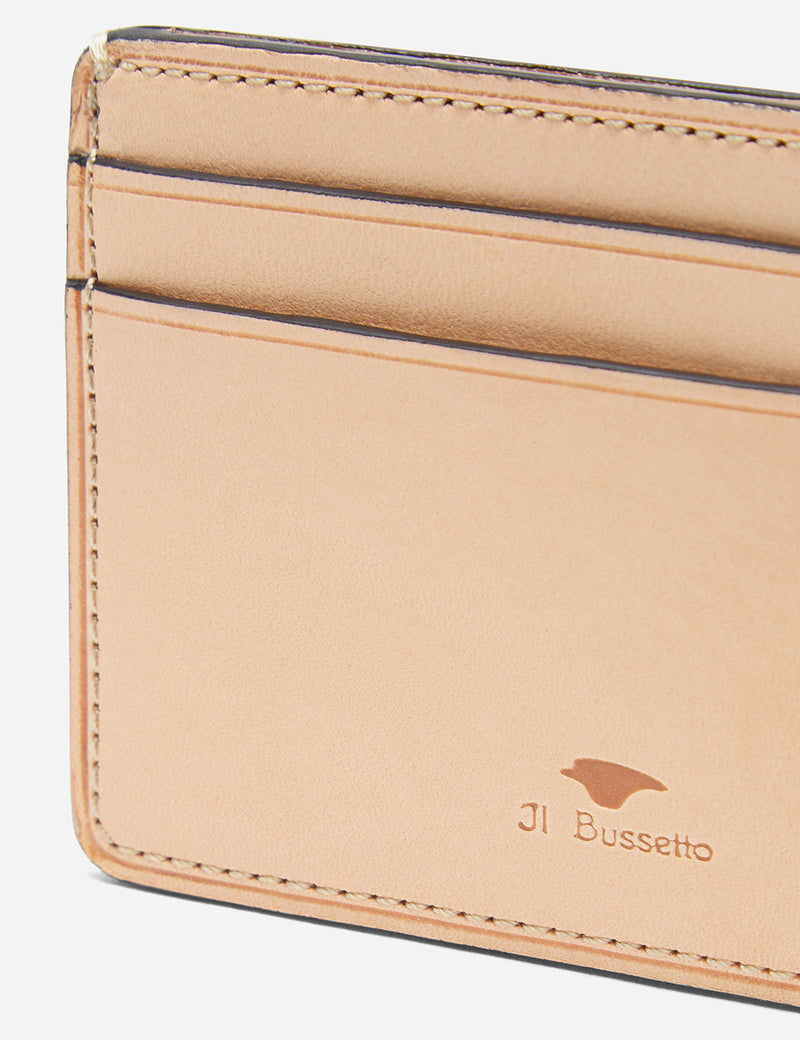Il Bussetto Small Card Holder (Leather) - Ocean Blue