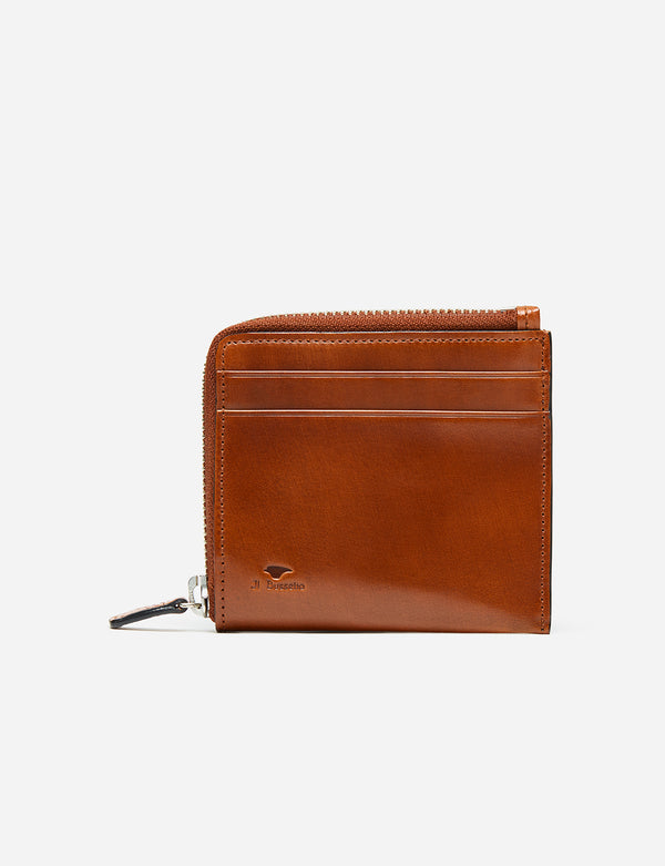 Il Bussetto Small Zip Wallet (Leather) - Light Brown
