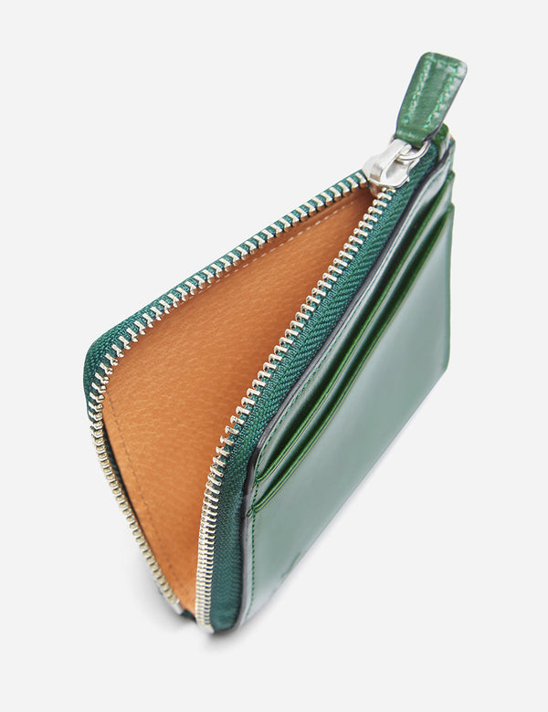 Il Bussetto Small Zip Wallet (Leather) - Forest Green
