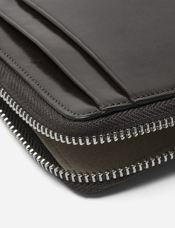 Il Bussetto Small Zip Wallet (Leather) - Black