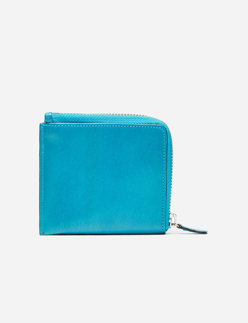 Il Bussetto Small Zip Wallet (Leather) - Brilliant Blue