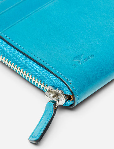 Il Bussetto Small Zip Wallet (Leather) - Ocean Blue